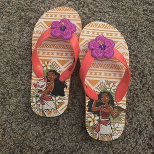 Other - Moana Flip Flop Sandals Toddler Size 9/10